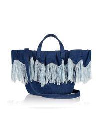 Meli Melo - Blue Rosalia Mini | Cross Body Bag | Frayed Denim - Lyst