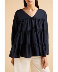 Merlette Blue Sidonia Blouse?variant=39312791830630