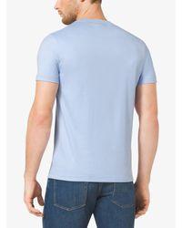 Michael Kors Blue Cotton Crewneck T-shirt for men