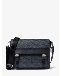 Michael Kors Black Greyson Logo Messenger Bag for men