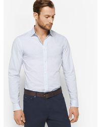 Michael Kors Blue Slim-fit Cotton Shirt for men