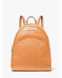 Michael Kors Gray Abbey Medium Pebbled Leather Backpack