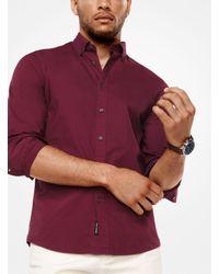 Michael Kors - Red Slim-fit Cotton Shirt for Men - Lyst