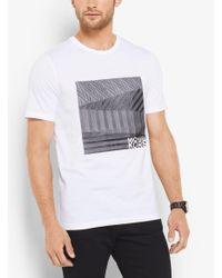 Michael Kors White Graphic Logo T-shirt for men