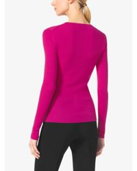 Michael Kors | Purple Featherweight Cashmere Sweater | Lyst