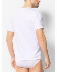 Michael Kors - White 3-pack V-neck Cotton T-shirt for Men - Lyst