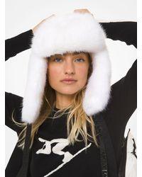 Michael Kors White Faux Fur Ski Hat