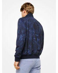 Michael Kors Blue Tropical Tech Bomber Jacket for men
