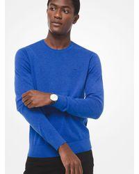 Pullover girocollo in cotone di Michael Kors in Blue da Uomo