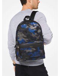 Michael Kors Blue Kent Camouflage Backpack for men