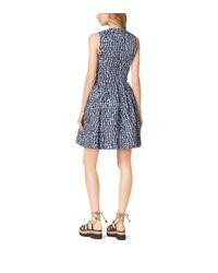 Michael Kors - Blue Gingham Crushed-taffeta Dance Dress - Lyst