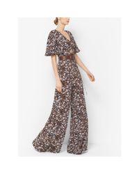 Michael Kors | Multicolor Floral Silk-georgette Jumpsuit | Lyst