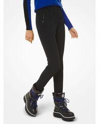 Michael Kors Black Performance Nylon-blend Stirrup Ski Pants