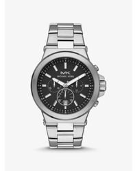 Michael Kors Metallic Oversized Dylan Silver-tone Watch for men