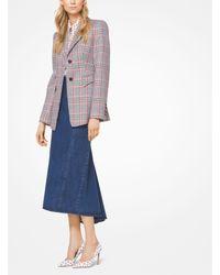 Michael Kors Blue Fishtail Denim Skirt