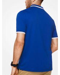 Michael Kors - Blue Greenwich Cotton Polo Shirt for Men - Lyst