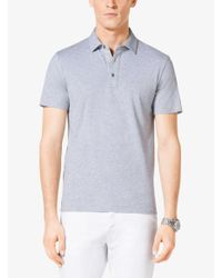 Michael Kors - Gray Cotton Polo Shirt for Men - Lyst