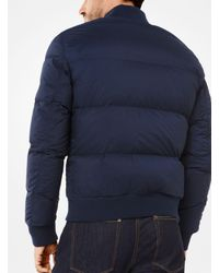 Michael Kors - Blue Quilted-nylon Bomber Jacket for Men - Lyst