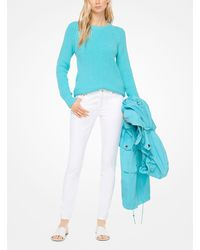 Michael Kors Blue Cotton-blend Sweater