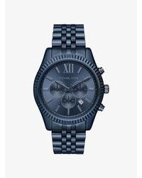 Michael Kors Oversized Lexington Blue-tone Watch for men