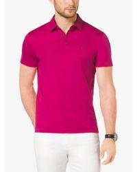 Michael Kors Purple Cotton-pique Polo Shirt for men