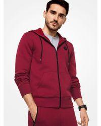Michael Kors - Red Logo Cotton-blend Zip-up Hoodie for Men - Lyst