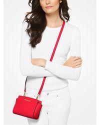 Michael Kors Red Selma Mini Saffiano Leather Crossbody