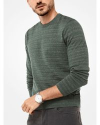 Michael Kors - Green Cotton Pullover for Men - Lyst