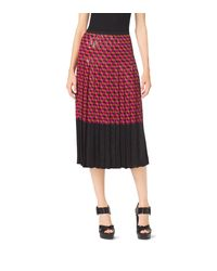 Michael Kors Red Sequined Hexagon Silk-Georgette Skirtirt