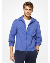 Michael Kors Blue Lightweight Hooded Jacket for men