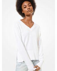 Pullover in cotone e cashmere di Michael Kors in White