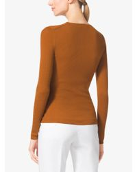 Michael Kors | Brown Featherweight Cashmere Sweater | Lyst