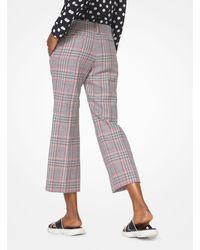 Pantalone Corto A Quadri In Lana di Michael Kors in Red
