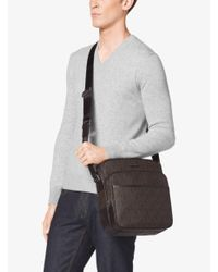 Michael Kors | Brown Jet Set Large Logo Flight Bag for Men | Lyst