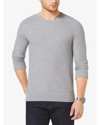 Michael Kors Gray Cotton Crewneck Sweater for men