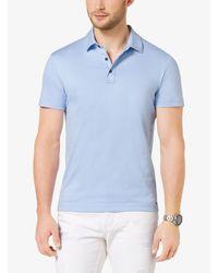 Michael Kors Gray Cotton-pique Polo Shirt for men