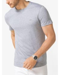 Michael Kors Gray Cotton Crewneck T-shirt for men