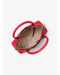 Michael Kors Red Mercer Large Leather Dome Satchel