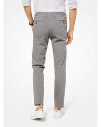 Pantalón Slim-Fit De Punto Roma Michael Kors de hombre de color Gray