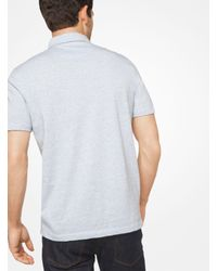 Michael Kors - White Space-dyed Cotton Polo Shirt for Men - Lyst