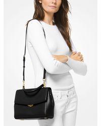Michael Kors Black Ava Medium Leather Satchel