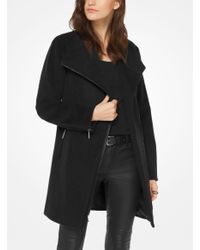 Michael Kors   Black Wool-blend Belted Coat   Lyst