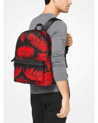 Michael Kors Multicolor Kent Palm Nylon Backpack for men