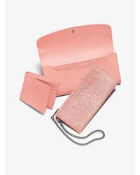 Michael Kors Pink Juliana Large 3-in-1 Saffiano Leather Wallet