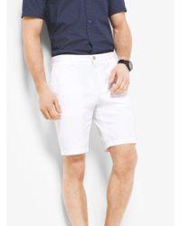 Michael Kors White Slim-fit Stretch-twill Shorts for men