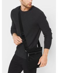Michael Kors Black Kent Small Nylon Crossbody for men