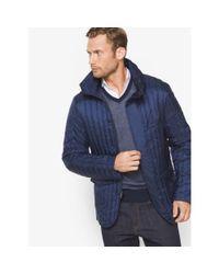 Michael Kors - Blue Nylon Funnel-neck Jacket for Men - Lyst