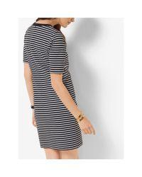Michael Kors Black Striped Ponte Dress