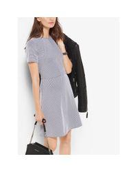Michael Kors Black Jacquard Fit-and-flare Dress
