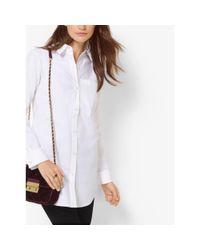Michael Kors | White Cotton-poplin Shirt | Lyst